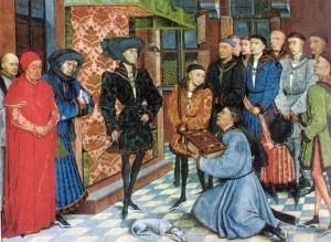 Rogier Van der Weyden, illustration des Chroniques de Hainaut, 1447.