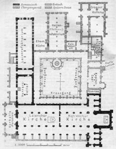 Kloster Maulbronn Plan - Public Domain - Quelle: Baedekers Süd-Deutschland von 1913.